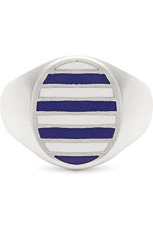 Jessica Biales Enamel & Sterling Silver Ring - Womens
