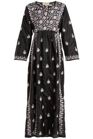 Muzungu Sisters Women Printed Dresses - Floral-embroidered Silk Dress - Womens