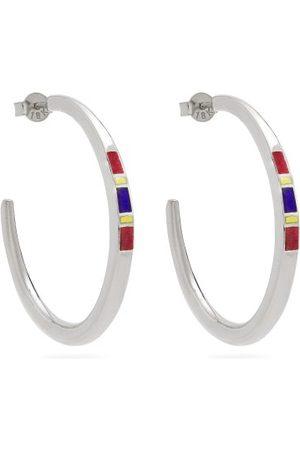 Jessica Biales Saxony Enamel & Sterling Earrings - Womens