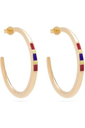Jessica Biales Women Earrings - Saxony Enamel & Yellow Earrings - Womens