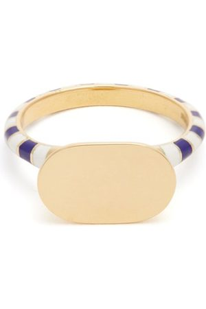 Jessica Biales Enamel & Yellow Gold Ring - Womens