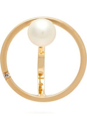 DELFINA DELETTREZ Small Bubble 18kt , Pearl And Diamond Earring - Womens