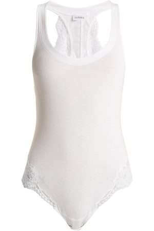 La Perla Souple Lace Trimmed Jersey Bodysuit - Womens