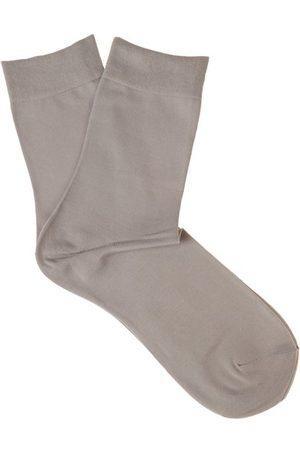 Falke Women Socks - Touch Cotton-blend Socks - Womens - Light Grey