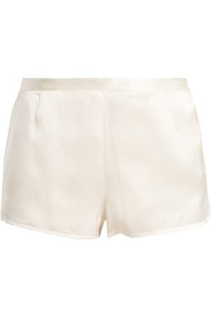 La Perla Women Pajamas - Silk-satin Pyjama Shorts - Womens - Ivory