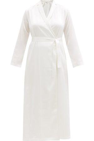 La Perla Silk Satin Robe - Womens - Ivory