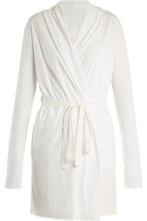 SKIN Women Bathrobes - Wraparound Cotton-jersey Robe - Womens