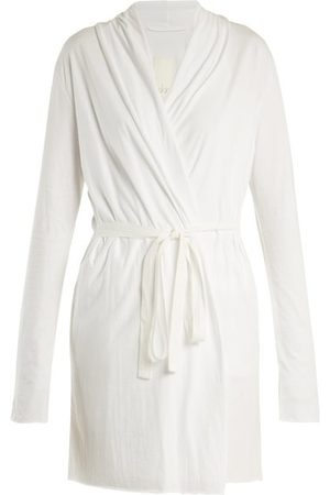 SKIN Wraparound Cotton-jersey Robe - Womens