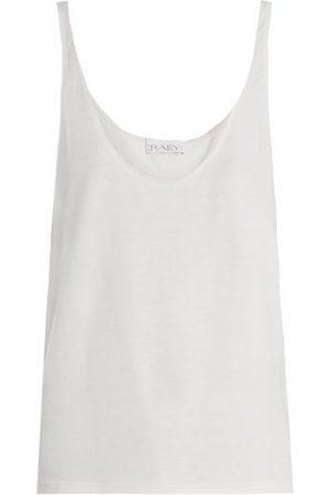 Raey Skinny-strap Cotton-jersey Vest - Womens
