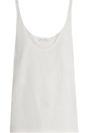 Raey Women Tank Tops - Skinny-strap Cotton-jersey Vest - Womens