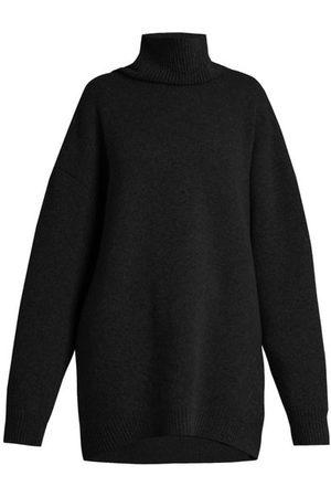Raey Women Turtlenecks - Displaced-sleeve Roll-neck Wool Sweater - Womens
