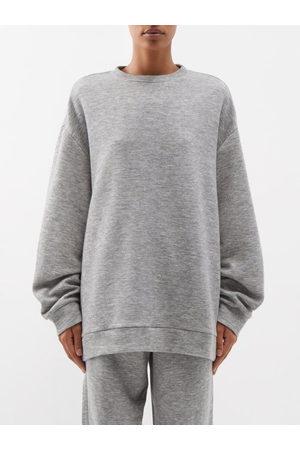 Raey Women Sweats - Crew-neck Cashmere-blend Sweatshirt - Womens - Grey Marl