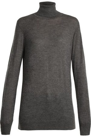 Raey Roll-neck Fine-knit Cashmere Sweater - Womens - Charcoal