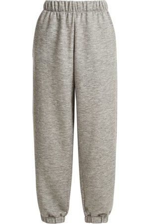 Raey Elasticated-waist Cashmere-blend Track Pants - Womens - Grey Marl