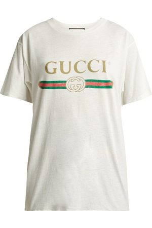 Gucci Vintage Logo Cotton Jersey T Shirt - Womens
