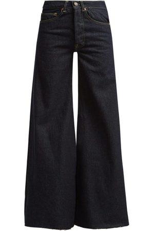 Raey Women Wide Leg - Loon Wide-leg Jeans - Womens - Indigo