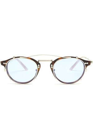 Gucci Detachable Lens Round Frame Acetate Sunglasses - Mens