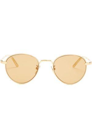 Gucci Round Frame Metal Sunglasses - Mens