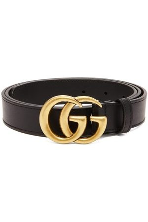 Gucci GG Leather Belt - Mens
