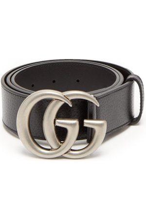 Gucci Men Belts - GG Leather Belt - Mens