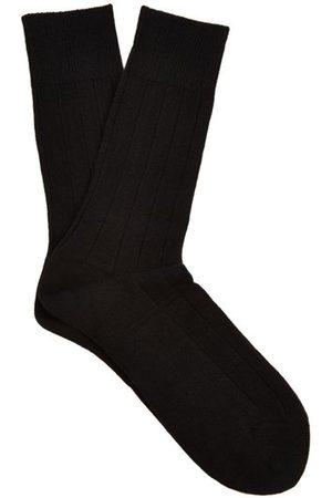 Falke Lhasa Wool And Cashmere-blend Socks - Mens
