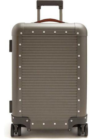 FPM Milano Spinner 53 Stud-embellished Cabin Suitcase - Mens - Grey