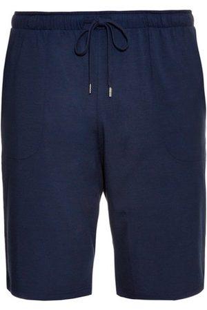 DEREK ROSE Men Pajamas - Basel Jersey Shorts - Mens - Navy