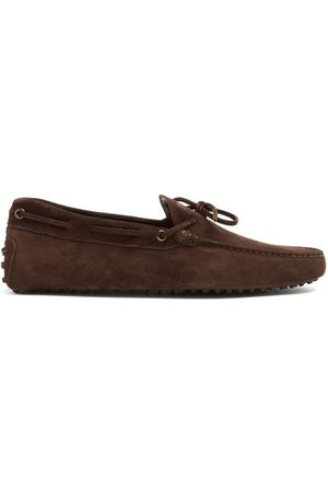 Tod's Men Loafers - Gommino Suede Driving Loafers - Mens