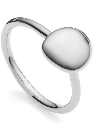 Monica Vinader Women Rings - Sterling Silver Nura Small Pebble Stacking Ring