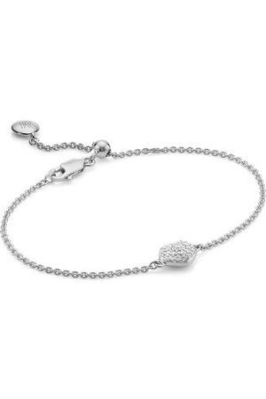 Monica Vinader Sterling Silver Nura Mini Heart Bracelet Diamond