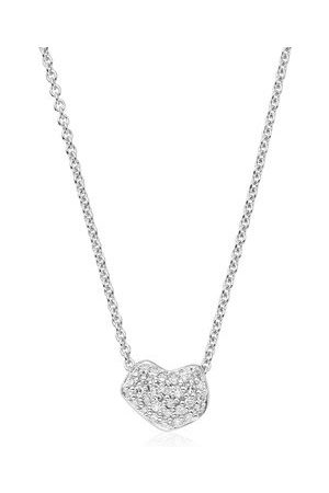 Monica Vinader Sterling Silver Nura Mini Heart Necklace Diamond
