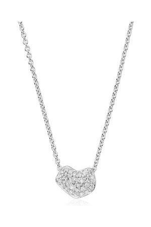 Monica Vinader Women Bracelets - Sterling Silver Nura Mini Heart Necklace Diamond
