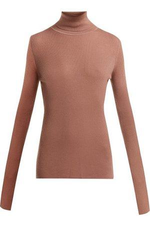 Raey Roll-neck Fine-rib Cashmere Sweater - Womens