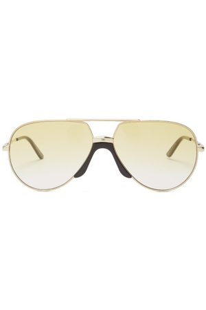 Gucci Aviator Frame Metal Sunglasses - Mens