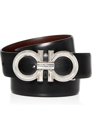 Salvatore Ferragamo Men Belts - Double Gancini Reversible Leather Belt