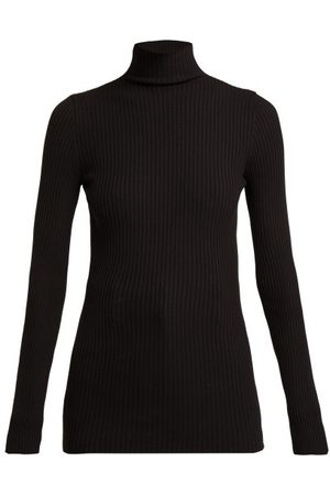 Wolford Ribbed Knit High Neck Top - Womens