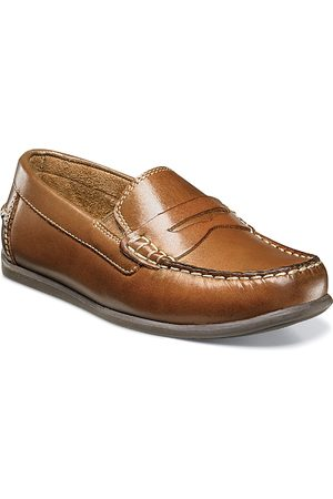 Florsheim Kids Boys Loafers - Boys' Jasper Leather Driver Slip On Loafers - Toddler, Little Kid, Big Kid
