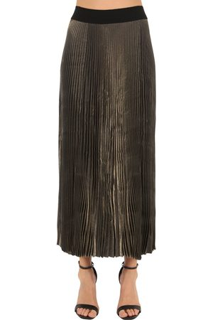 POIRET Pleated Lamè Skirt