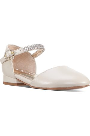 NINA Girls' Cera Embellished D'Orsay Ankle Strap Flats - Walker, Toddler, Little Kid, Big Kid