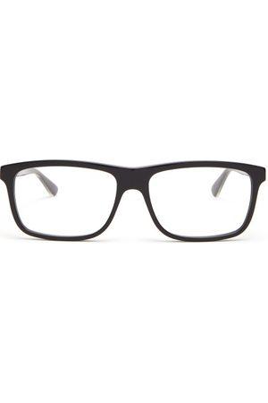 Gucci Men Sunglasses - Web Striped Square Frame Glasses - Mens