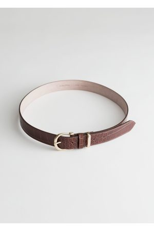 & OTHER STORIES Women Belts - Croco Leather Belt