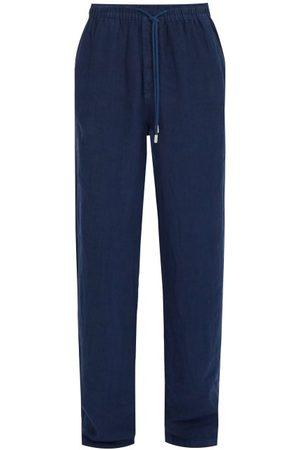 Vilebrequin Men Pants - Linen Trousers - Mens - Navy