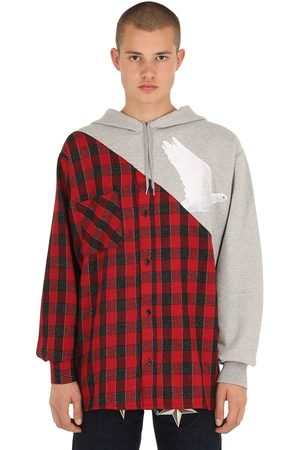 3.Paradis Plaid Button Down Sweatshirt Hoodie