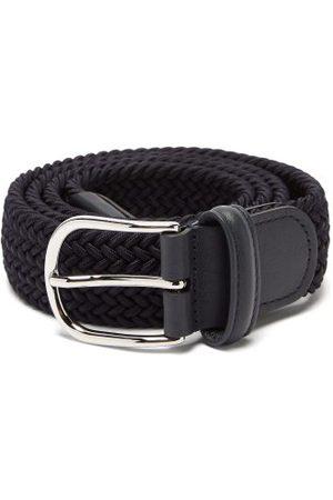 Anderson's Woven Belt - Mens - Navy Multi