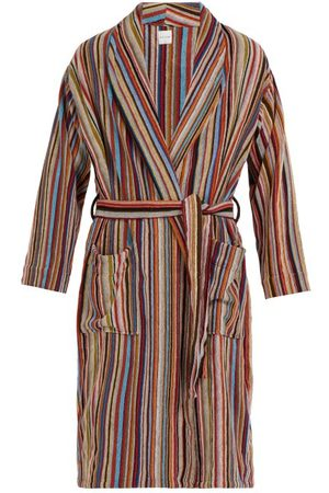 Paul Smith Signature Stripe Cotton Bathrobe - Mens - Multi