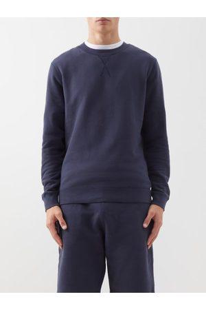 Sunspel Crew-neck Cotton-jersey Sweatshirt - Mens - Navy