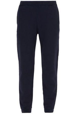 Sunspel Loopback Cotton-jersey Track Pants - Mens - Navy
