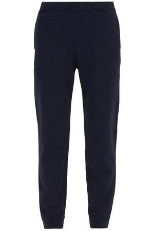 Sunspel Men Sweatpants - Cotton Track Pants - Mens - Navy