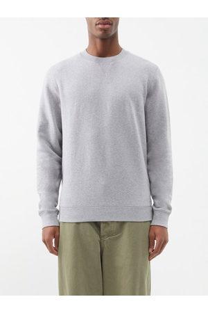 Sunspel Men Sweatshirts - Crew-neck Cotton-jersey Sweatshirt - Mens - Grey