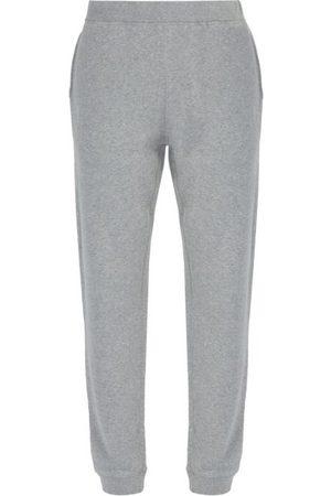 Sunspel Loopback Cotton-jersey Track Pants - Mens - Grey